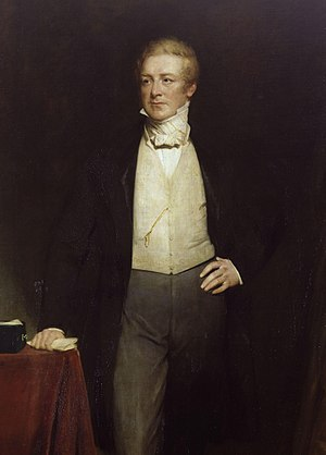 Robert Peel - Detail of a portrait painting by Henry William Pickersgill