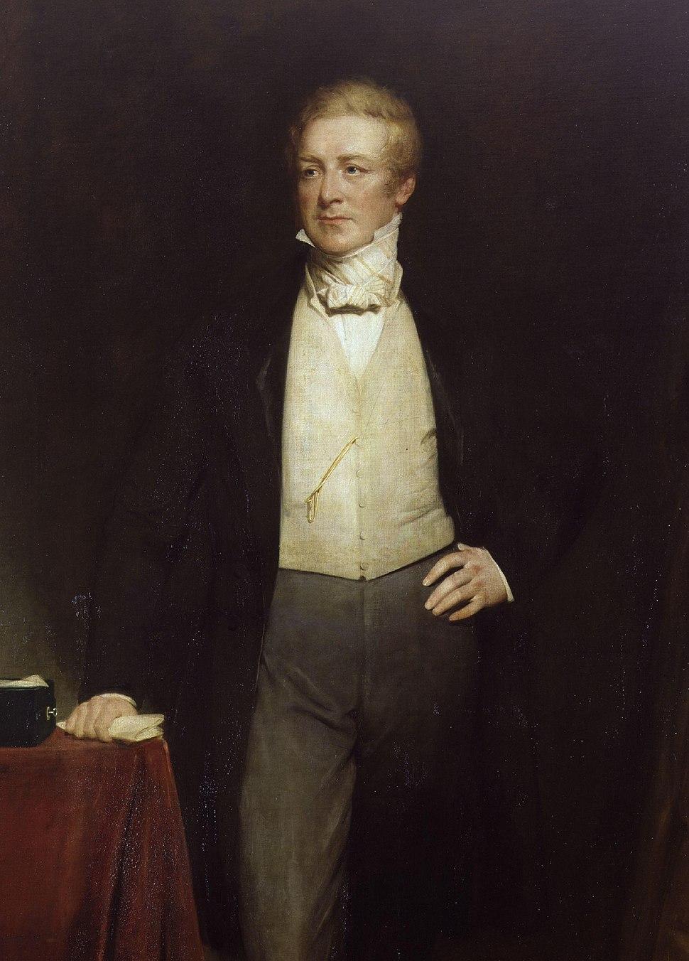 Sir Robert Peel, 2nd Bt by Henry William Pickersgill-detail