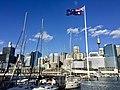 Skyline of Sydney CBD across Cockley Bay, Darling Harbour in 2016, 03.jpg