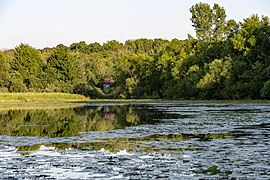 Slate Run - Covered Bridge past Buzzard's Roost Lake 1.jpg