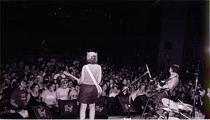 Yoyo A Go Go - Sleater-Kinney onstage at Yoyo