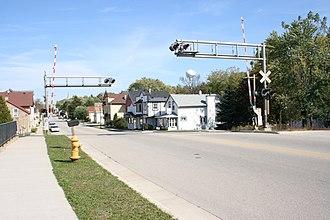 Slinger, Wisconsin - Image: Slinger WI RR KMD