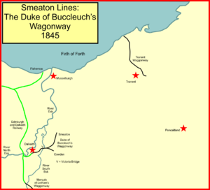 The Smeaton railway branches of the Lothians - The railways to Dalkeith and Smeaton in 1845