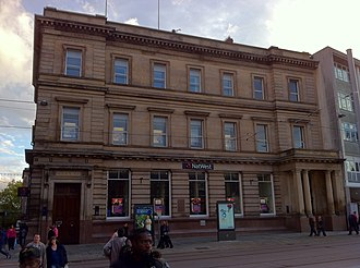 Smith's Bank - The main bank building in Old Market Square Nottingham