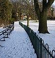 Snow, Botanic Gardens - geograph.org.uk - 1659844.jpg