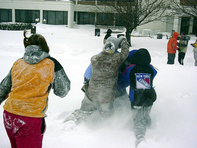 Picture of children playing in the snow