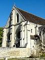 Soissons (02), abbaye Saint-Jean-des-Vignes, réfectoire, pignon sud, vue depuis le sud-est.jpg