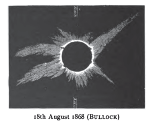Solar eclipse of August 18, 1868 - Image: Solar eclipse 1868Aug 18 Bullock