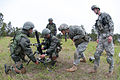 Soldiers with the Indian Army 50th Mountain Brigade and the U.S. Army 82nd Airborne Division's 1st Brigade Combat Team practice adjusting a 60mm mortar used by U.S. Army infantry units.jpg