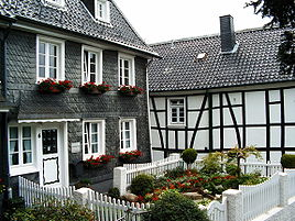 Typical Houses in Solingen-Gräfrath