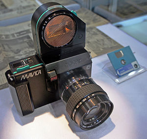 Sony Mavica - Sony Mavica (1981), the first still video camera in history.