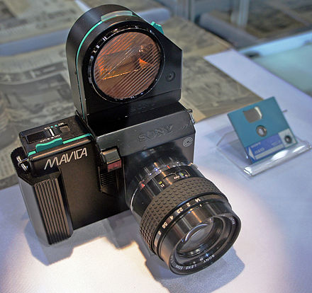 Prototype Sony Mavica still video camera from 1981