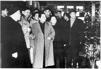 Soong Ching-ling - Soong Ching-ling visiting the Shanghai Electric Machinery Factory, 1960