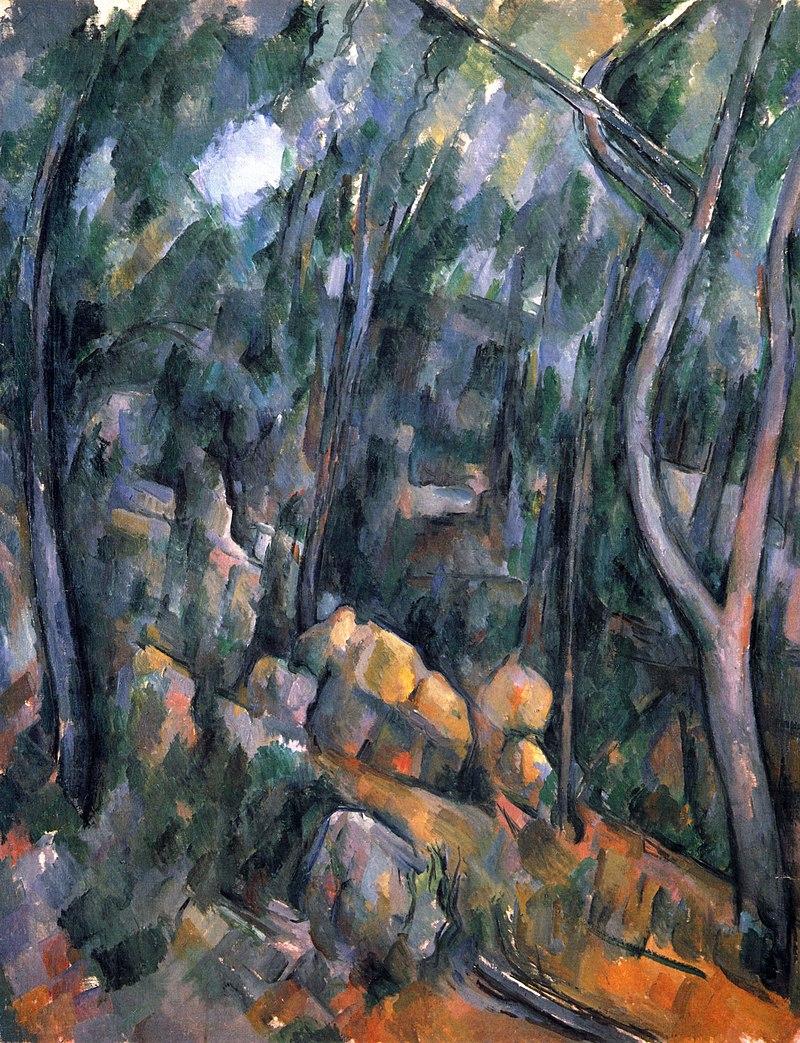 Sous-bois devant les grottes au-dessus du Château Noir, par Paul Cézanne.jpg