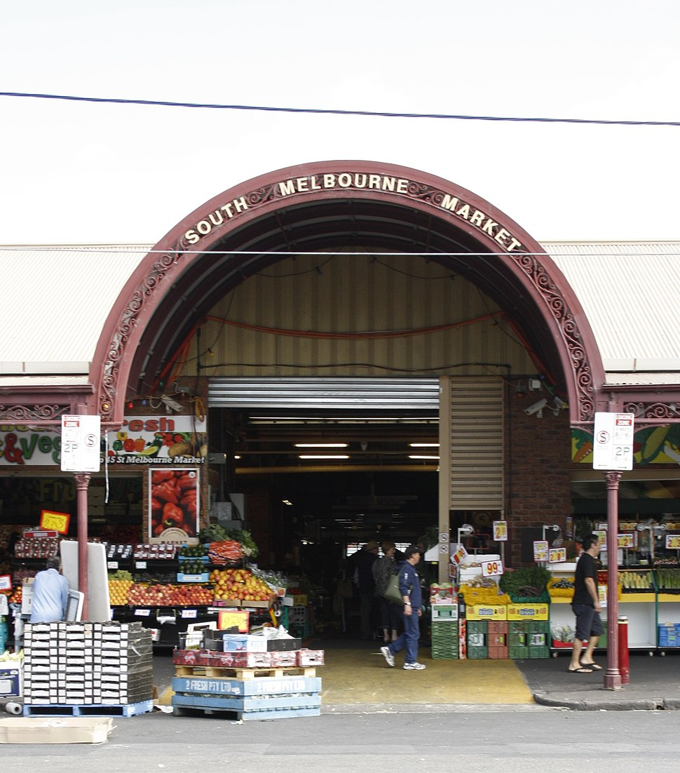 South Melbourne market outside 1a