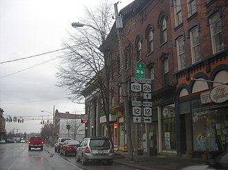 New York State Route 812 - Southern terminus of NY 812 in Lowville
