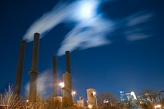 Southeast Steam Plant - The plant at dusk