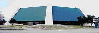 University Center (Southeastern Louisiana) - Image: Southeastern University Center cr sign out