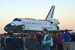 Space Shuttle Atlantis Rolls Slowly to Its New Home 03.jpg