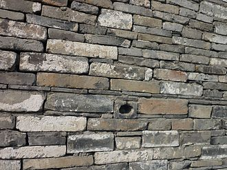 Ningbo Museum - Wall detail, made of old tiles
