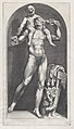 Speculum Romanae Magnificentiae- Bacchus on the Shoulders of a Satyr MET DP870225.jpg