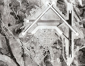 Spence Air Base - Spence Army Airfield aerial photo, 1943