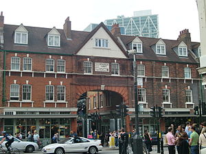 Old Spitalfields Market - The 1887 frontage of Spitalfields Market