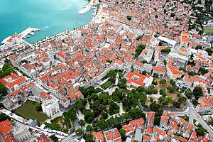 Dalmatia - The ancient core of the city of Split, the largest city in Dalmatia, built in and around the Palace of the Emperor Diocletian.