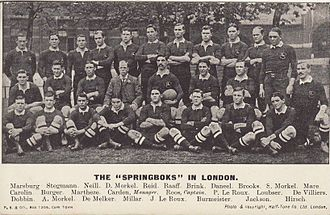 Paul Roos (rugby player) - Roos' 1906 touring South Africa team