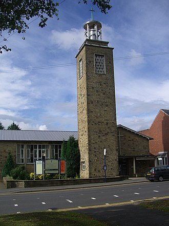 Crosspool - St. Columba church, Manchester Road dates from 1956.