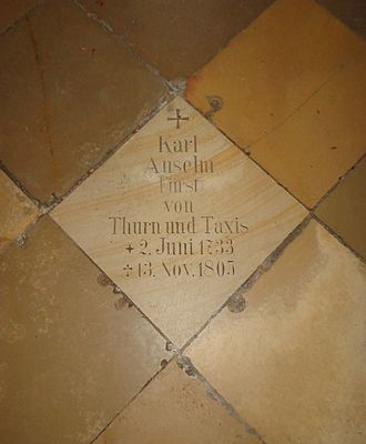 Karl Anselm, 4th Prince of Thurn and Taxis - St. Emmeram's Basilica (Regensburg), grave of Karl Anselm, Prince of Thurn and Taxis