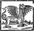 St. George and the dragon. Fleuron T192604-1.png