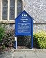St Andrew's Church, Havant Road, Farlington (August 2017) (Signboard).JPG