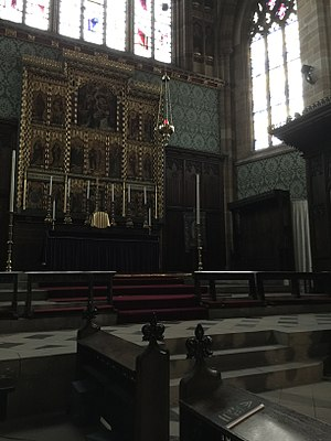 St Augustine's Church, Pendlebury - High altar, church interior
