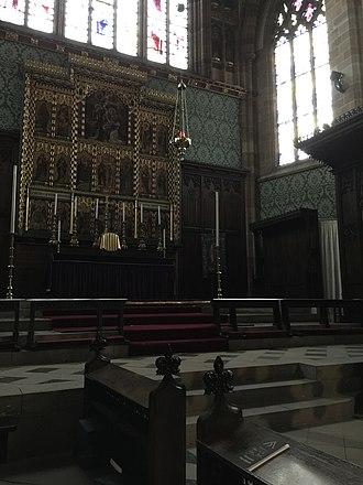 St Augustine's Church, Pendlebury - High altar, church interior