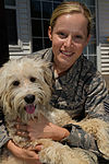 Staff sergeant reunites with rescued dog post-deployment 150512-F-BD468-016.jpg