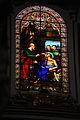 Stained glass window. Church interior. Valletta, Malta, Mediterranean Sea.jpg