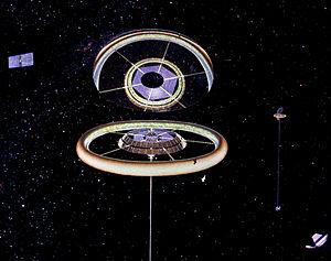 Space habitat - Stanford torus exterior