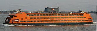 """MV """"Samuel I. Newhouse"""" crosses the Upper New York Bay"""