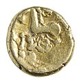 Stater van de Remi in goud, 60 tot 50 VC, vindplaats- Vechmaal, Bornebeemden, collectie Gallo-Romeins Museum Tongeren, 09-14-D, 006.jpg