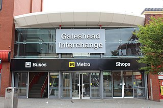 Gateshead Interchange Station of the Tyne and Wear Metro and bus station