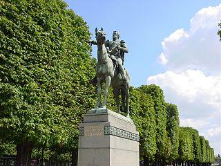 equestrian statue of Simón Bolívar