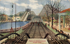 Forest Park, Illinois - Image: Steeple Chase Ride Forest Park Illinois