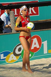 Stefanie Schwaiger Austrian beach volleyball player