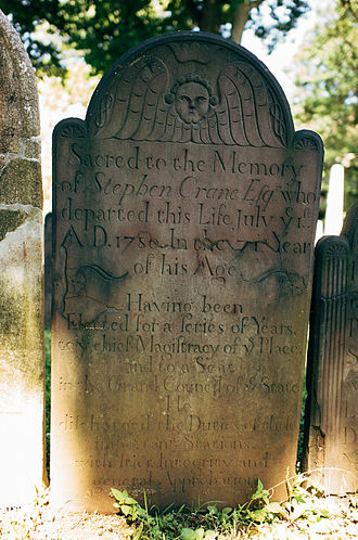 Stephen Crane (Continental Congress) - Image: Stephen Crane (Continental Congressman) Headstone