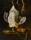 Still Life with a White Rooster and a Hare by Henri de Fromantiou Bonnefantenmuseum 1005875.jpg