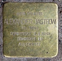 Photo of Alexander Jastrow brass plaque