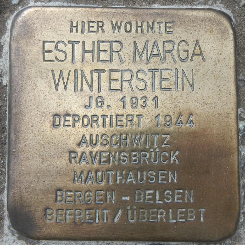 Stolperstein Esther Marga Winterstein
