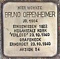 Stolperstein für Bruno Oppenheimer (Heidelberg).jpg