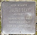 Stumbling stone for Julius Levy (Cäcilienkloster 2)